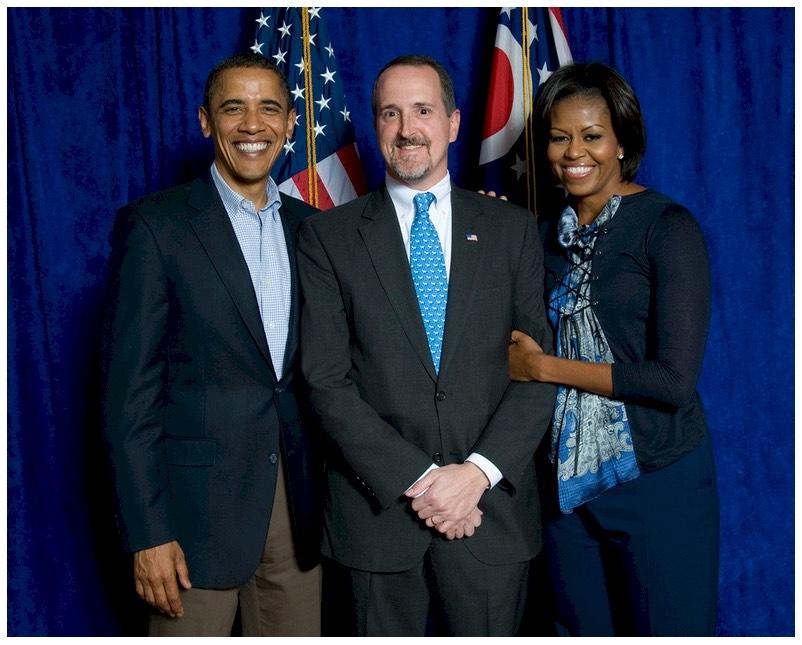 William Vodrey with Barack Obama and Michelle Obama