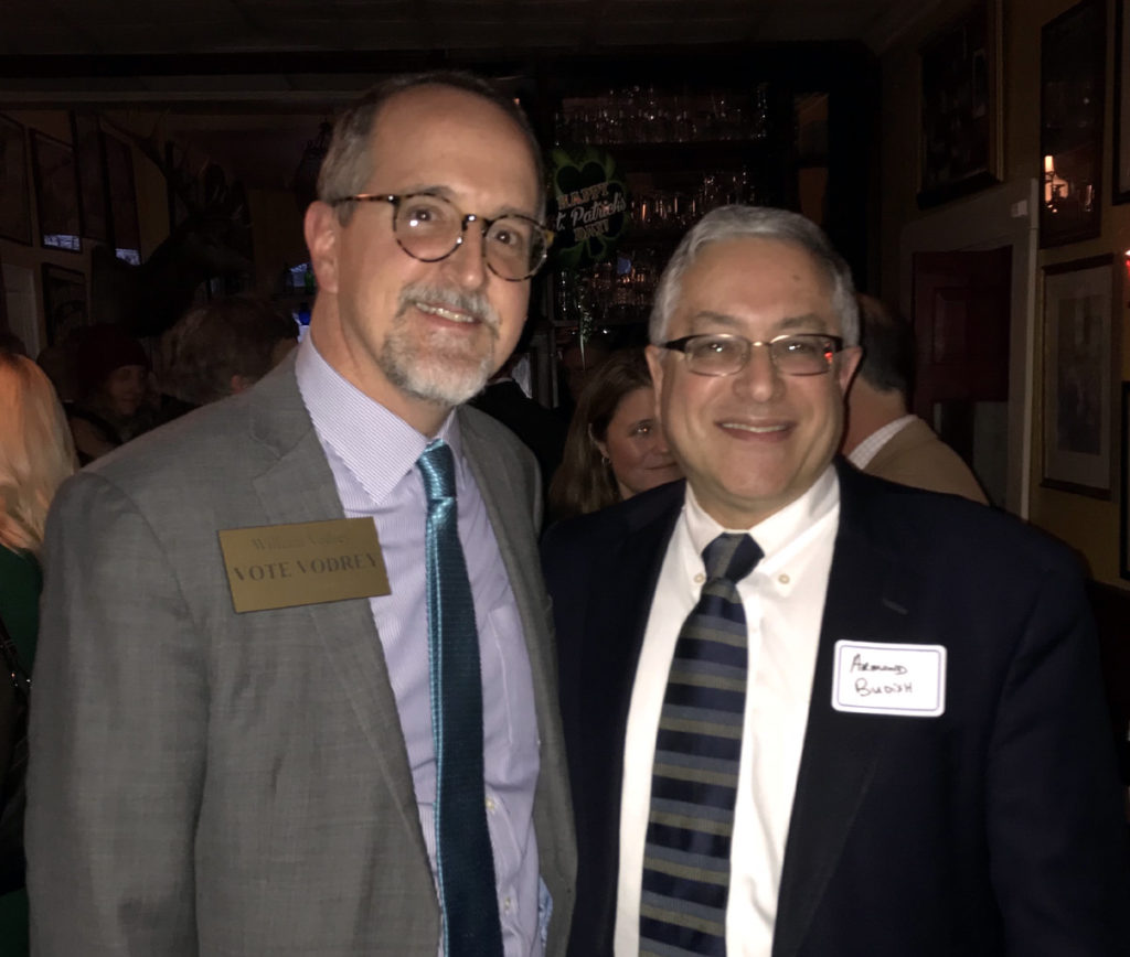 William Vodrey with Armond Budish, Cuyahoga County Executive