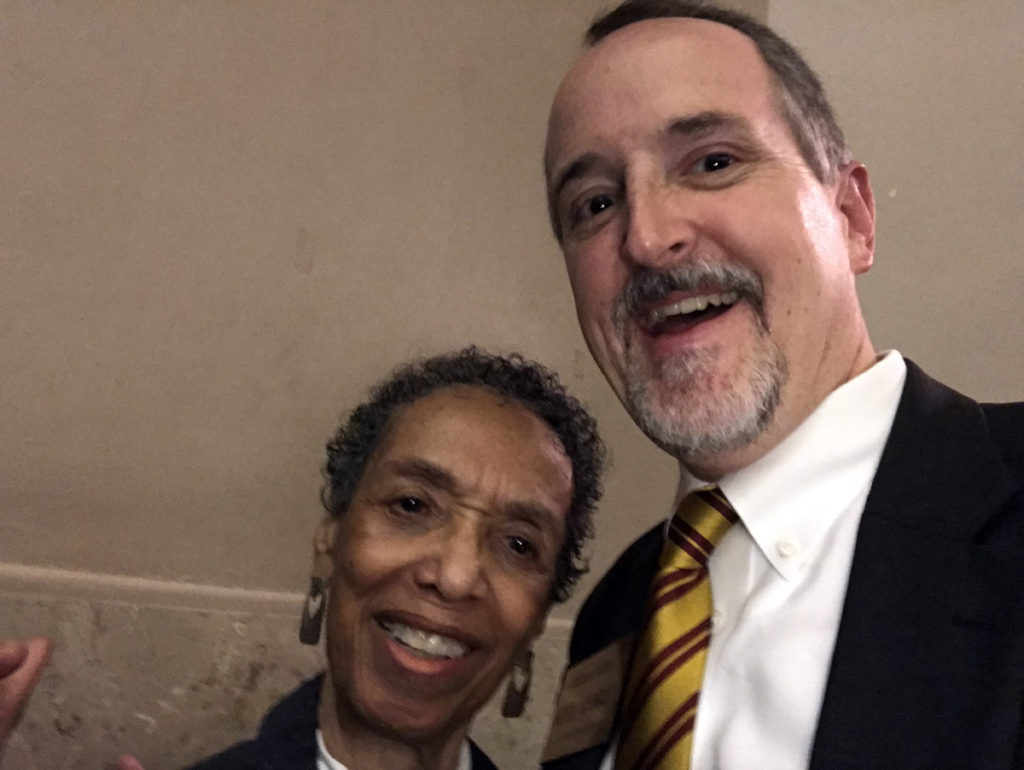William with Betty Pinkney, former Chief of Staff for the late Congresswoman Stephanie Tubbs Jones