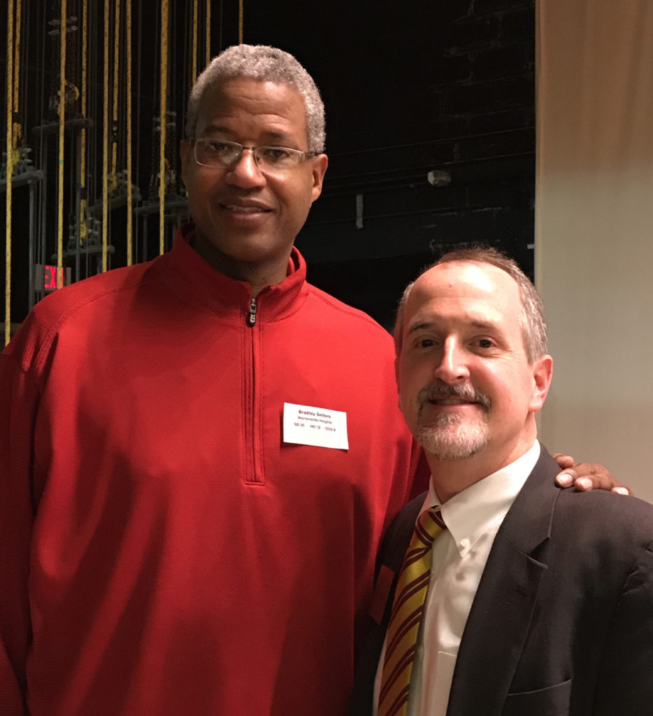 William with Brad Sellers, Mayor of Warrensville Heights
