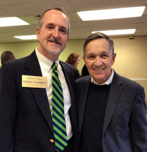 William with Dennis Kucinich, candidate for Ohio Governor