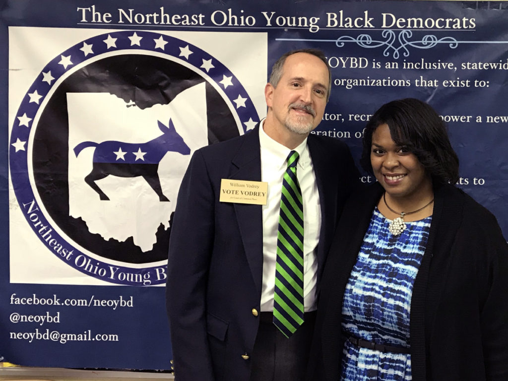 William with Gabrielle Jackson, President of Northeast Ohio Young Black Democrats