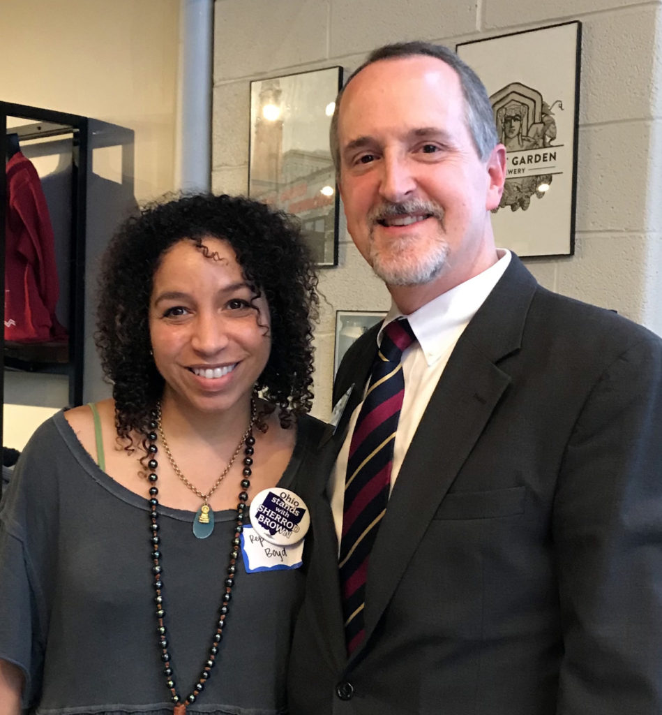 William with Janine Boyd, State Representative
