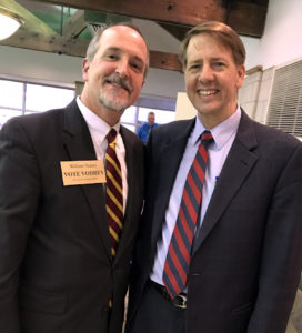 William with Richard Cordray, candidate for Ohio Governor