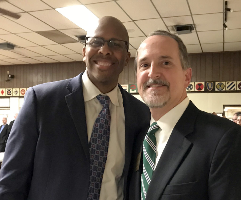 William with Rob Richardson, candidate for Ohio Treasurer