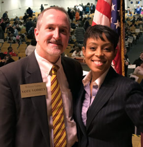 William with Shontel Brown, Cuyahoga County Democratic Party Chair